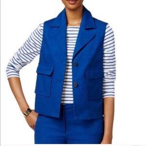 Ann Klein blue vest size 4